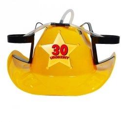 Kapelusz cowboya żółty 30 urodziny