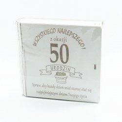 Kuferek na kasę Wszystkiego najlepszego z okazji 50 urodzin