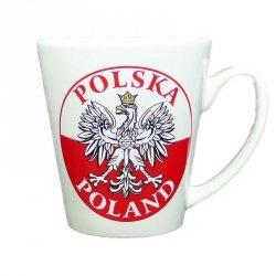 Kubek ceramiczny biały Polska - orzeł