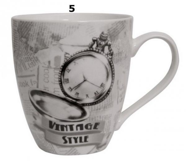 Kubek ceramiczny VINTAGE STYLE. 6 wzorów. Pojemność 600 ml