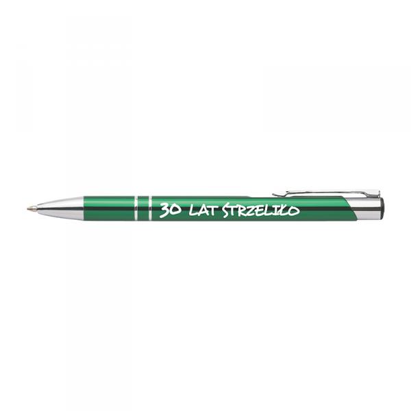 Długopis z nadrukiem '30 lat strzeliło'