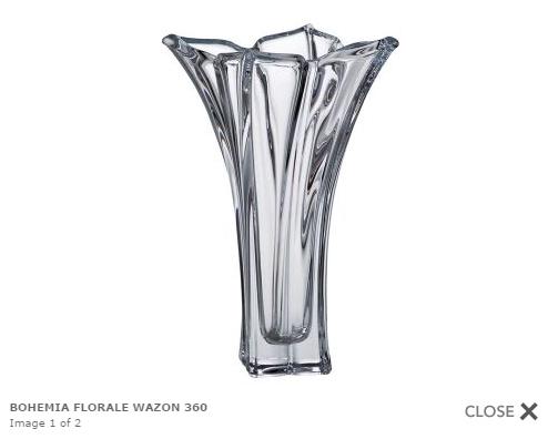 Wazon Folrale ze szkła kryształowego.