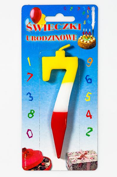 """ŚWIECZKA CYFERKA """"7"""""""