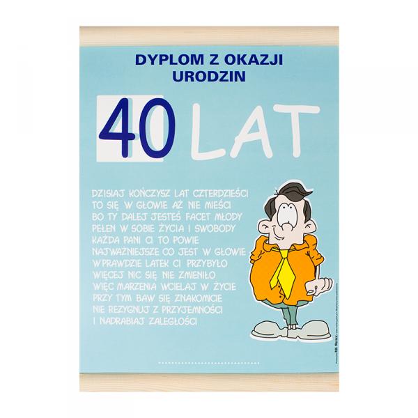 """DYPLOM KOLOROWY """"40 LAT PAN"""""""