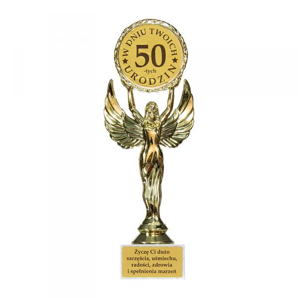Statuetka Victoria 'W dniu Twoich 50-tych urodzin'