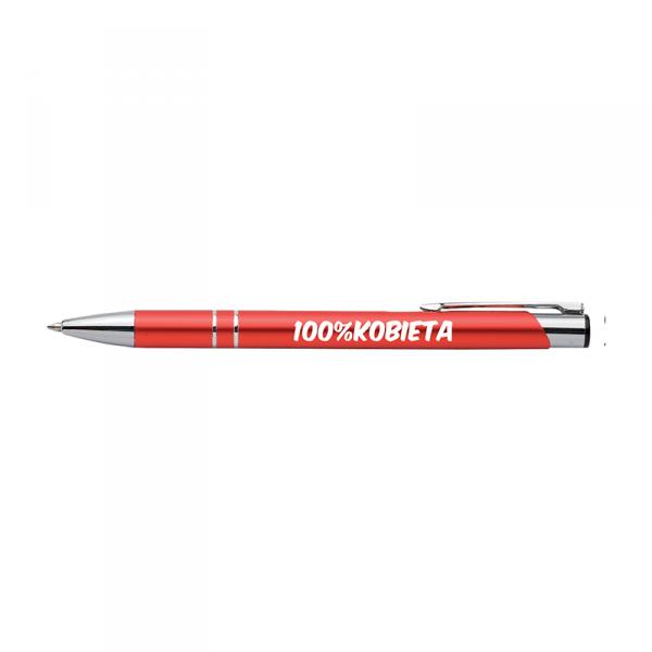 Długopis z nadrukiem '100% kobieta'